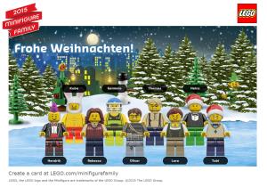LEGO Weihnachtsbild 2015
